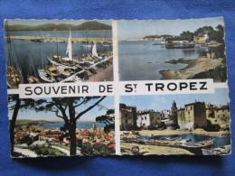 Souvenir De Saint Tropez. SEPT 65101. Voyage 1967. Multi Vues. Dans L'etat. - Saint-Tropez