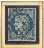 N°4 BLEU FONCE GRILLE 1849. - 1849-1850 Cérès