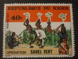 "NIGER  *  *  De  1977      ""   Opérationn  SAHEL  Vert   ""      N° 410         1 Val . - Niger (1960-...)"
