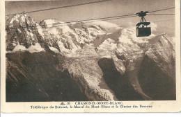 CHAMONIX  ,    Téléphérique Du Brevent  Et Le Mont Blanc Et Les Bossons - Chamonix-Mont-Blanc