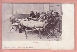 OUDE POSTKAART ZWITSERLAND SCHWEIZ DAVOS  1900'S DAVOS LIEGEKUR - GR Grisons
