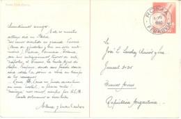 ENTERO POSTAL ITALIA  FERROVIA AÑO 1950 ROMA CITTA ETERNA TRES BON ETAT ENTIER - 6. 1946-.. Republic