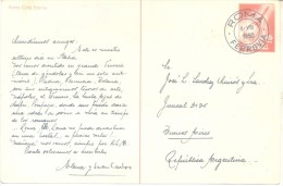 ENTERO POSTAL ITALIA  FERROVIA AÑO 1950 ROMA CITTA ETERNA TRES BON ETAT ENTIER - 1946-60: Marcophilia