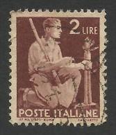 Italy, 2 L. 1945, Sc # 470, Mi # 691, Used. - 5. 1944-46 Lieutenance & Umberto II