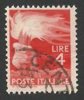 Italy, 4 L. 1946, Sc # 471A, Mi # 693, Used. - 5. 1944-46 Lieutenance & Umberto II