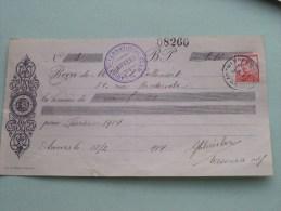 Callewaert Anvers - Pour Ladies Int. Club 1914 Met Zegel ( Zie Foto´s Voor Detail ) ! - Lettres De Change