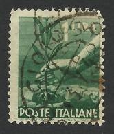 Italy, 1 L. 1945, Sc # 468, Mi # 689, Used. - 5. 1944-46 Lieutenance & Umberto II