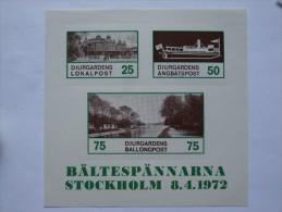 SWEDEN BALTESPANNARNA STOCKHOLM 8.4.1972 - Lettres & Documents