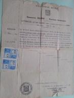 Uittreksel HUWELIJKSAKTE Jaar 1937 ( N° 58 ) DEURNE Prov. Antwerpen Meuwissen 1911 Geb. ( Zie Foto´s Voor Detail ) ! - Mariage