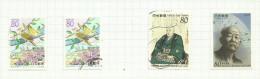 Japon N°2380, 2380a, 2381, 2382 Côte 4.25 Euros - 1989-... Emperador Akihito (Era Heisei)