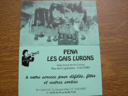 VAUVERT Péna Les Gais Lurons, Calendrier 1991 Publicitaire - Non Classés