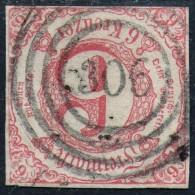 306 Sigmaringen Auf Vollrandiger 3 Kreuzer Rot T&T Nr. 22 IA - Pracht - Thurn Und Taxis