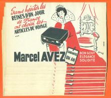 """Lot De 10 Buvards  """"  Marcel Avez - Reines D'un Jour  """" Illustres Par Francis - Papel Secante"""