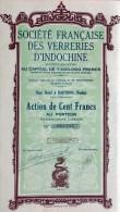 Société Française Des Verreries D'Indochine - Asie