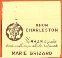 "Lot De 10 Buvards  ""  Rhum Charleston - Marie Brizard  "" - Papel Secante"