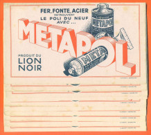 """Lot De 10 Buvards """"  Metapol - Lion Noir  """" - Lots & Serien"""