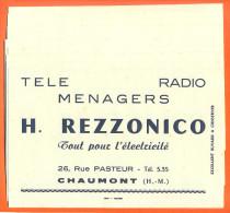 """Lot De 10 Buvards """"  H Rezzonico Telé Radio à Chaumont  """" - Papel Secante"""