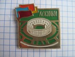 USSR Russia. Stadium Luzhnik in Moscow.  Soft enamel