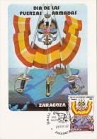 ARMY DAY, COAT OF ARMS, CM, MAXICARD, CARTES MAXIMUM, 1982, SPAIN - Tarjetas Máxima