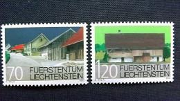 """Liechtenstein 1294/5 **/mnh, Ortsbildschutz: Siedlung """"Loch"""" In Popers, Mauren, Bauernhaus Am Weiherring, Mauren - Ungebraucht"""