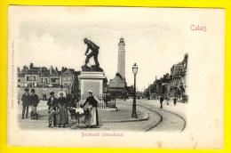 BOULEVARD INTERNATIONAL - Café De La Salle = CALAIS Dép 62 - Dos Non Divise *phare Tramway Animation Charrette * A66 - Calais