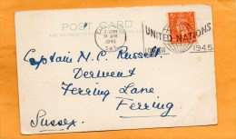Great Britain 1946 Card Mailed - Cartas