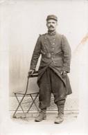 CPA 1269  MILITARIA  Carte Photo Militaire - Soldat  N° 38 Sur Le Col à BACCARAT Puis à VACQUEVILLE & Dans Les Tranchées - Personajes
