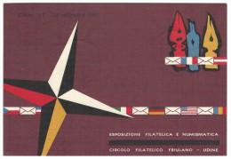1961, Udine  - Esposizione Filatelica E Numismatica - Circolo Filatelico Friulano. - Expositions
