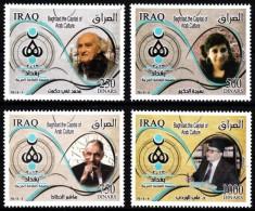 Irak 2013  MiNr. 1907/1910  ** / Mnh ;  Bagdad- Arab. Kulturhauptstadt 2013: Persönlichkeiten - Iraq