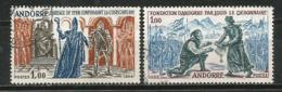 Fondation De L'Andorre Par Le Roi Louis Le Pieux En 1288.  Yv. 169/70. Oblitérés, Côte 38,50 € - Andorre Français