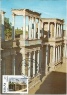 Spain Maxicard – España Tarjeta Máxima Con Sello Personalizado Del Teatro Romano De Mérida - Monumenti