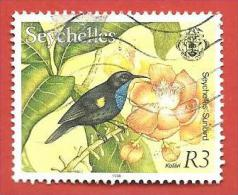 SEYCHELLES - USATO - 1993 - Flora And Fauna- Seychelles Sunbird - 3 ₨ - Michel SC 768 - Seychelles (1976-...)