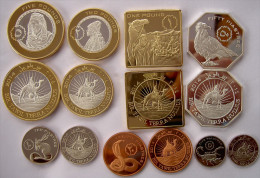 BIR TAWIL 2014 SERIE 7 MONETE CON 2 BIMETALLICHE 5-2-1 POUD50-20-10-5 PIASTRES FDC - Coins