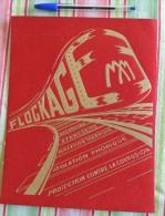 Publicité En Velours Sur Le Flockage MM – Dorure Fournier – Années 30-40  -  Chemins De Fer - Amiante - Transports