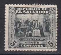 El Salvador, 1924/25 - 5c Conspiracy Of 1811 - Nr.498 Usato° - El Salvador