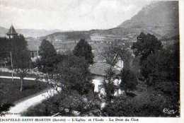 73 LA CHAPELLE ST MARTIN  Eglise Et Ecole Dent Du Chat - Frankreich