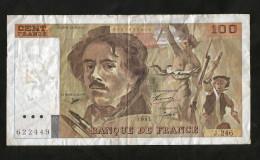FRANCE - BANQUE De FRANCE - 100 FRANCS DELACROIX (1993) Serie J.246 - 1962-1997 ''Francs''