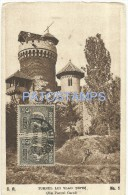 2560 ROMANIA RUMANIA TARGOVISTE TOWER  VLAD TEPES & CAROL PARK POSTAL POSTCARD - Romania