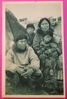 Cpa Famille Esquimau Cercle Arctique Alaska Postcard Family Eskimo Arctic Circle Alaska USA - Etats-Unis
