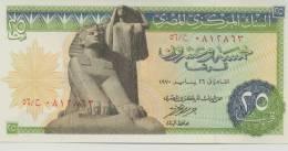 EGYPT  P. 42a 25 Ps 1970 AUNC - Egypt