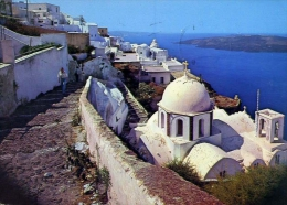 Santorini - Veduta Verso Kato Fira - Formato Grande Viaggiata - Grecia