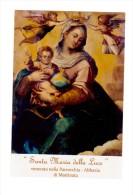 ST112    SANTA MARIA DELLA LUCE PATRONA DI MATTINATA (Foggia) - HOLY CARD - SANTINO - IMAGE PIEUSE - Santini