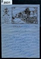 MILITARIA  LETTRE ILLUSTREE  D UN SOLDATDU 39eme R.A.D. A COBLENCE 1927 - Documents