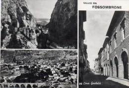 MARCHE-PESARO-SALUTI DA  FOSSOMBRONE CORSO GARIBALDI VEDUTE - Italia