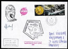ANTARCTIC, TAAF, D´URVILLE, 24.2.2000, 5 Cachets +  Signature , Look Scan !! 17.2-30 - Antarctic Expeditions