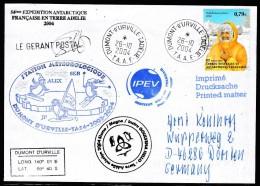 ANTARCTIC, TAAF, D´URVILLE, 26.10.2004, 5 Cachets +  Signature , Look Scan !! 17.2-28 - Antarctische Expedities