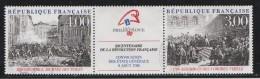 France 1988 - Timbres Yvert & Tellier N° 2537 Et 2538 + Vignette ( Se Tenant ) - Used Stamps