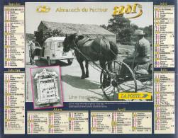 2001 CALENDRIER DES PTT  -  MAINE ET LOIRE - Grand Format : 2001-...