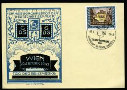 A3040) DR Sonderkarte Mi.828 Mit Ersttagssonderstempel Wien 10.1.1943 - Briefe U. Dokumente