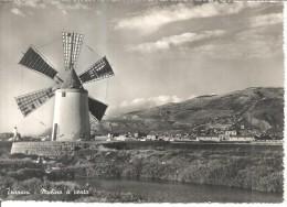TRAPANI MULINO A VENTO,VIAGGIATA-1957-FG--X310 - Trapani